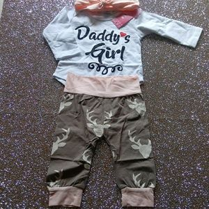 Daddy's little girl Deer outfit